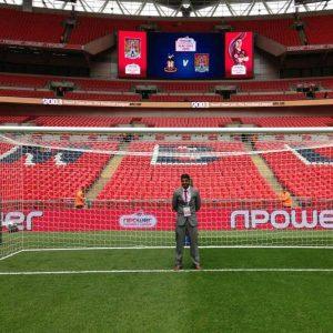 Wembley goalposts